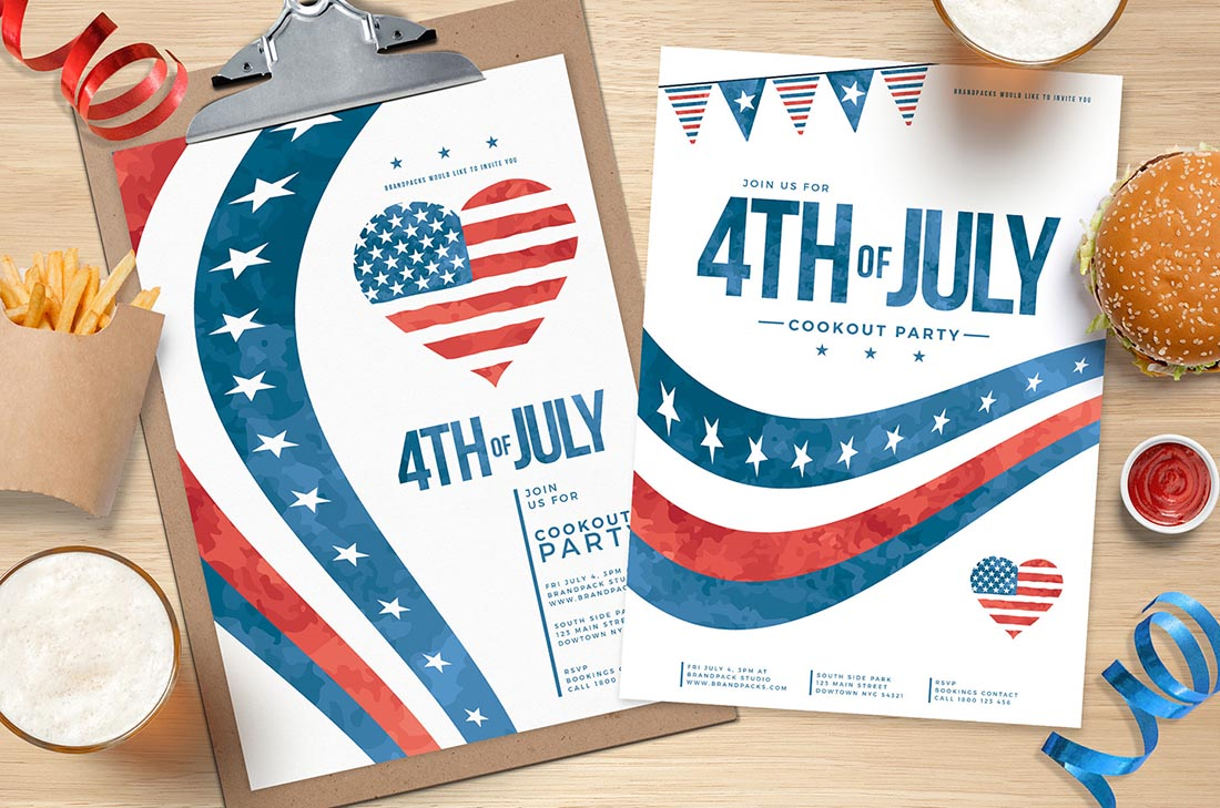 July 4th Poster Templates