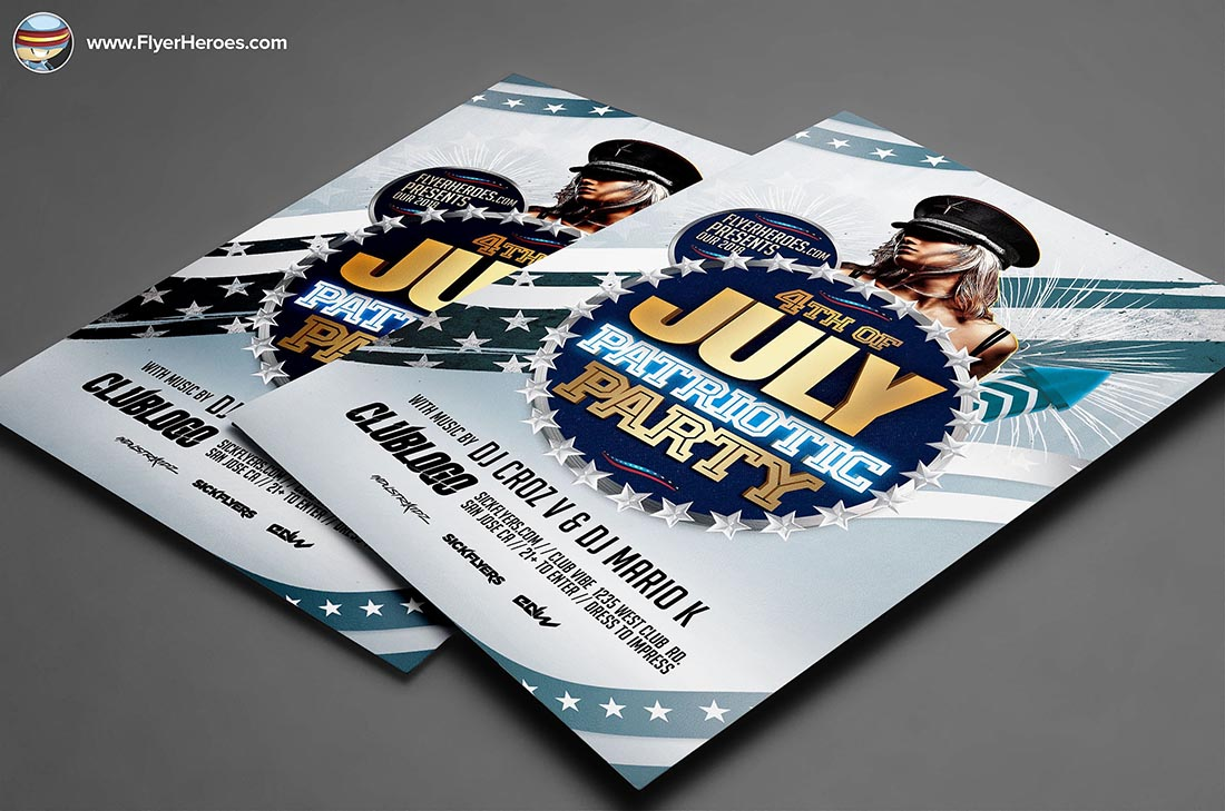 Patriotic Party Flyer Template