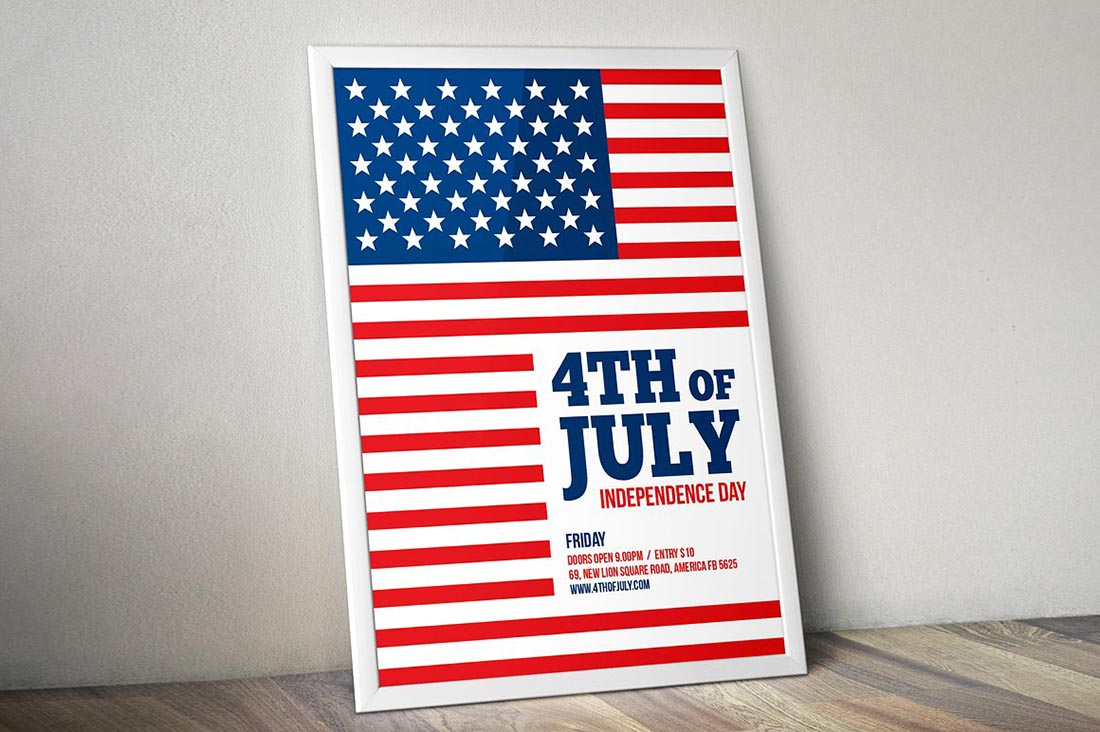 Simple 4th of July Flyer Template