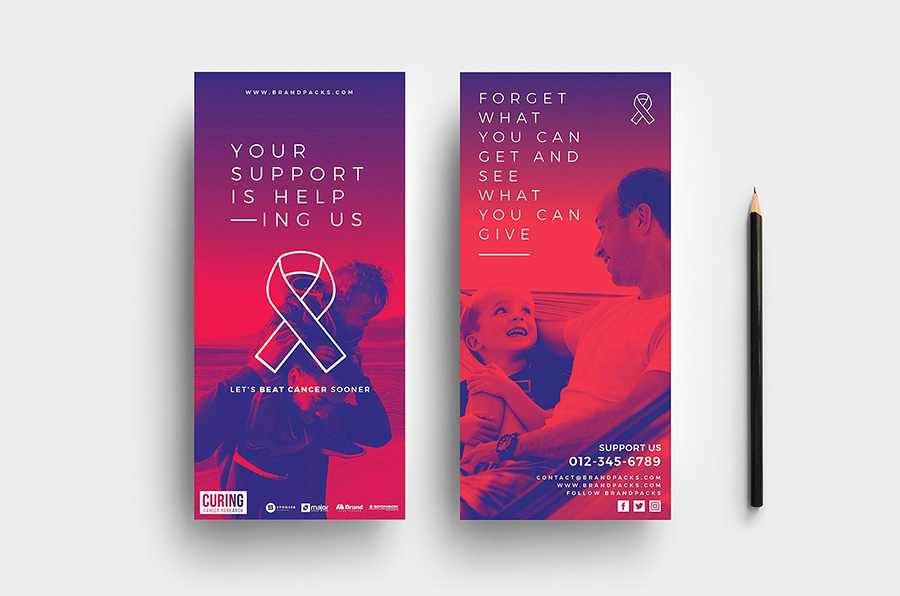 Cancer Charity DL Card Template