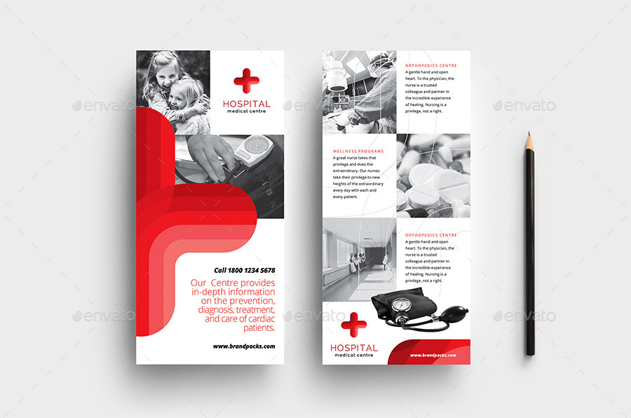 DL Medical Rack Card Template