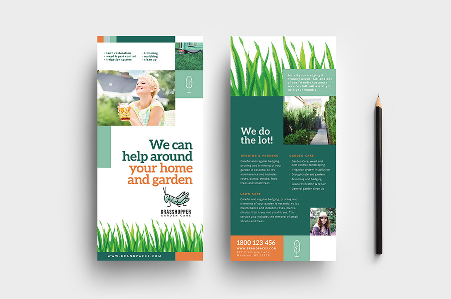 Garden Care DL Card Template