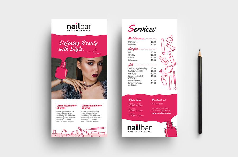 Nail Salon DL Rack Card Template