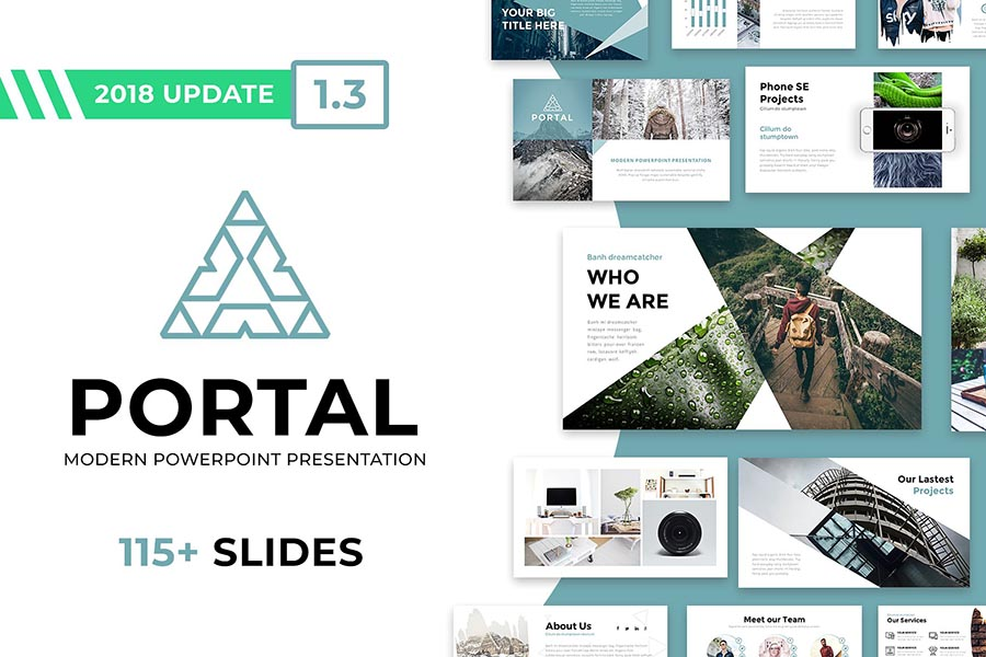 Portal PowerPoint Template