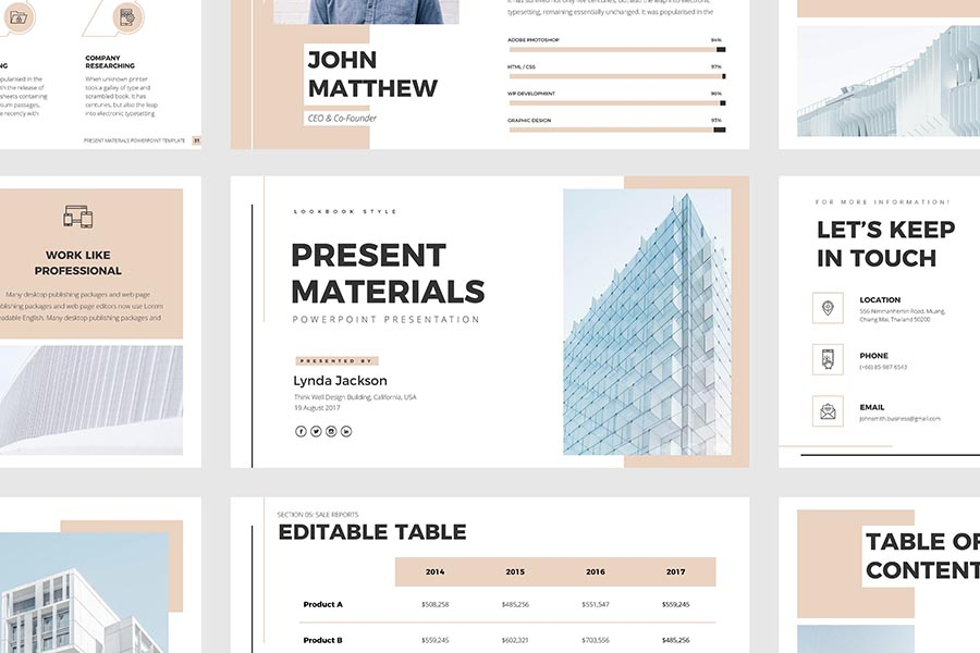 Present Materials Simple PowerPoint Template