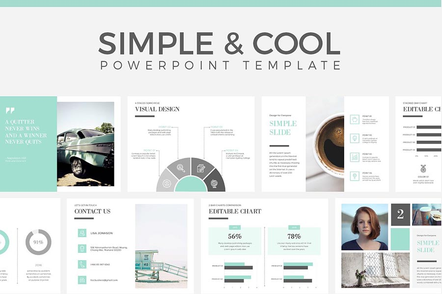 Simple & Cool PowerPoint Presentation Template