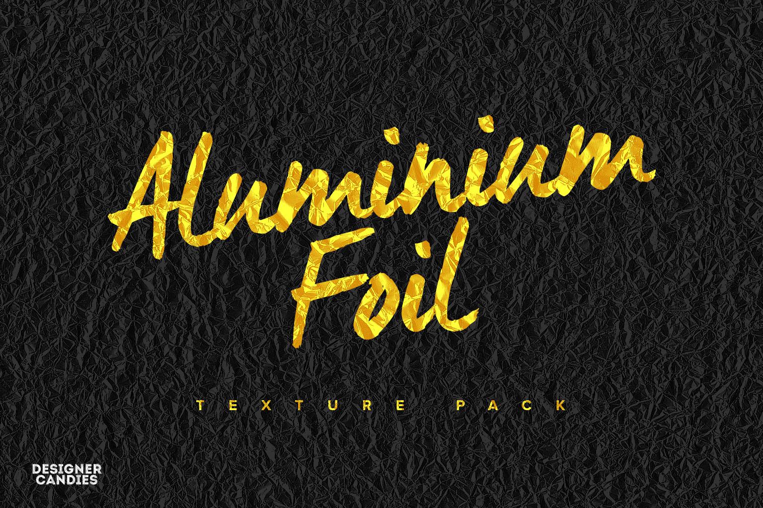 Aluminum Foil Texture Pack