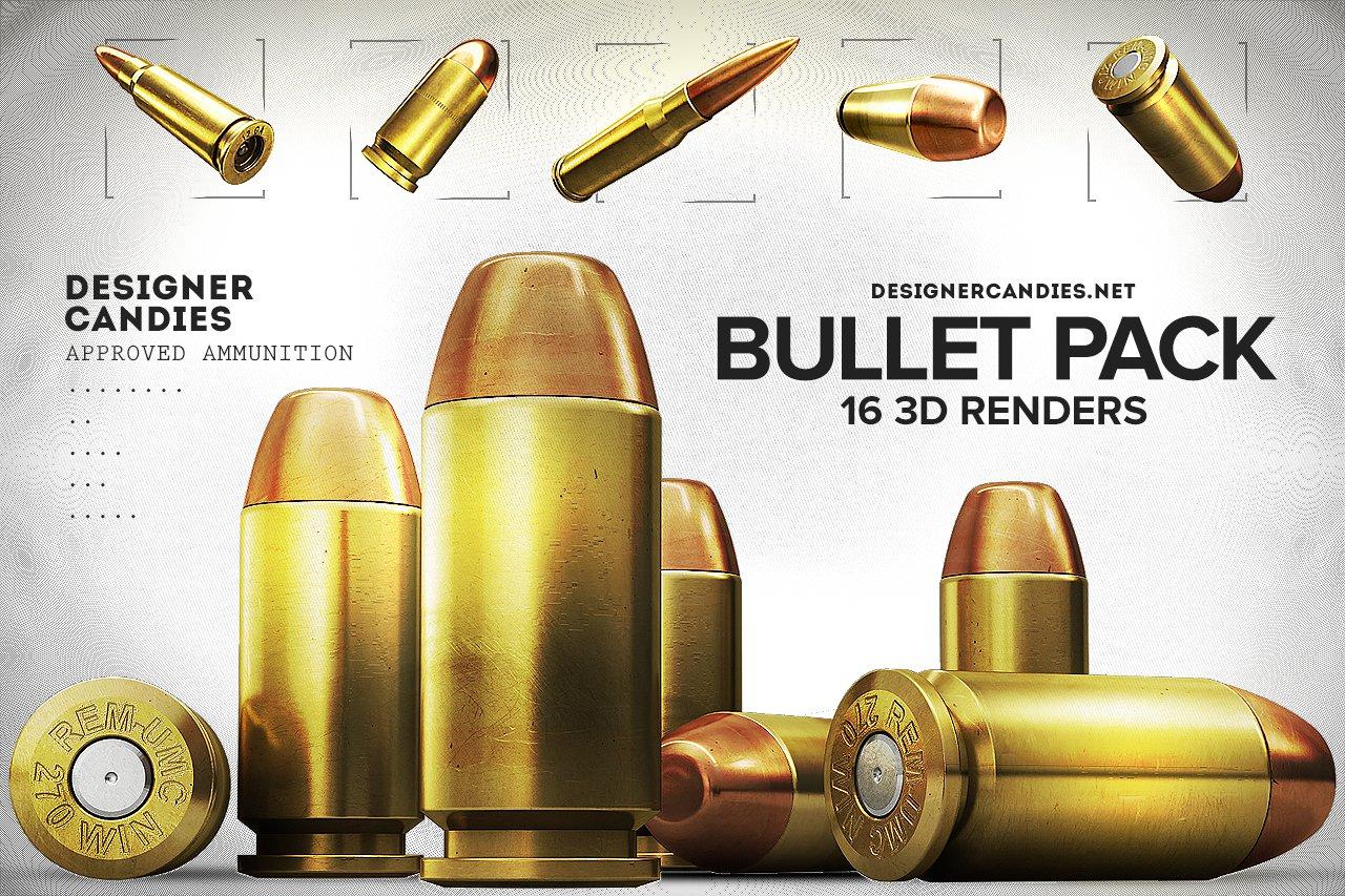 Free Bullet Renders Pack