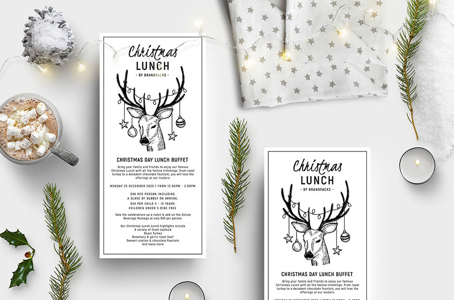 Christmas Lunch Flyer Template