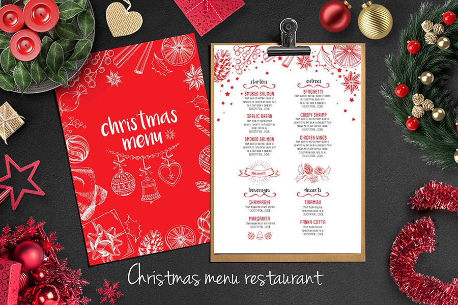 Christmas Menu Layout Templates