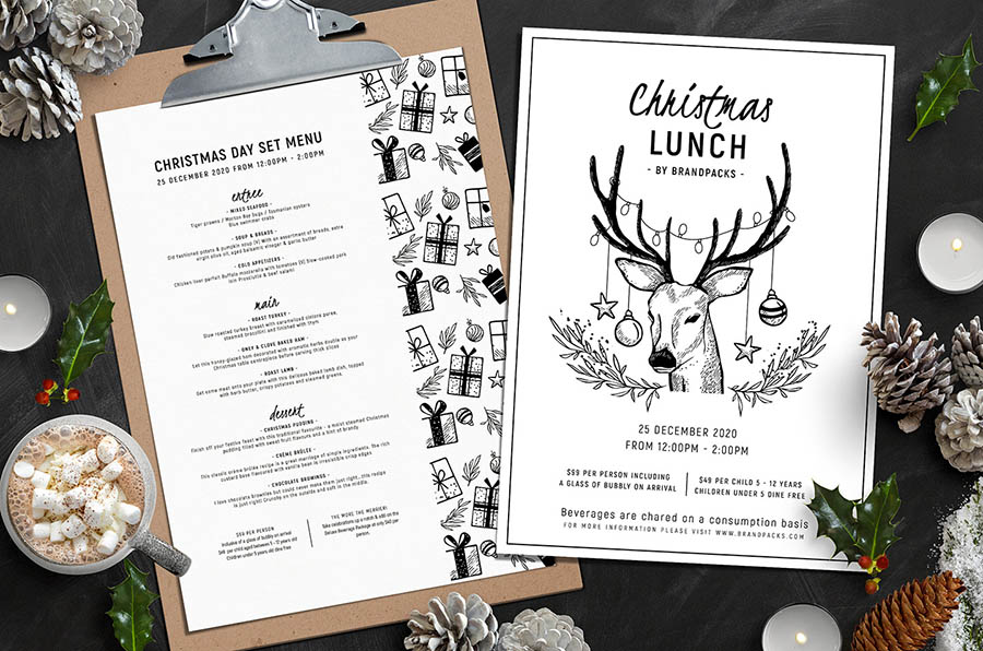 Christmas Menu Templates Vol.2