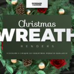Christmas Wreath Renders Pack
