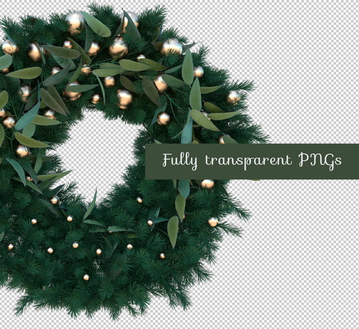 Transparent Christmas Wreath PNGs