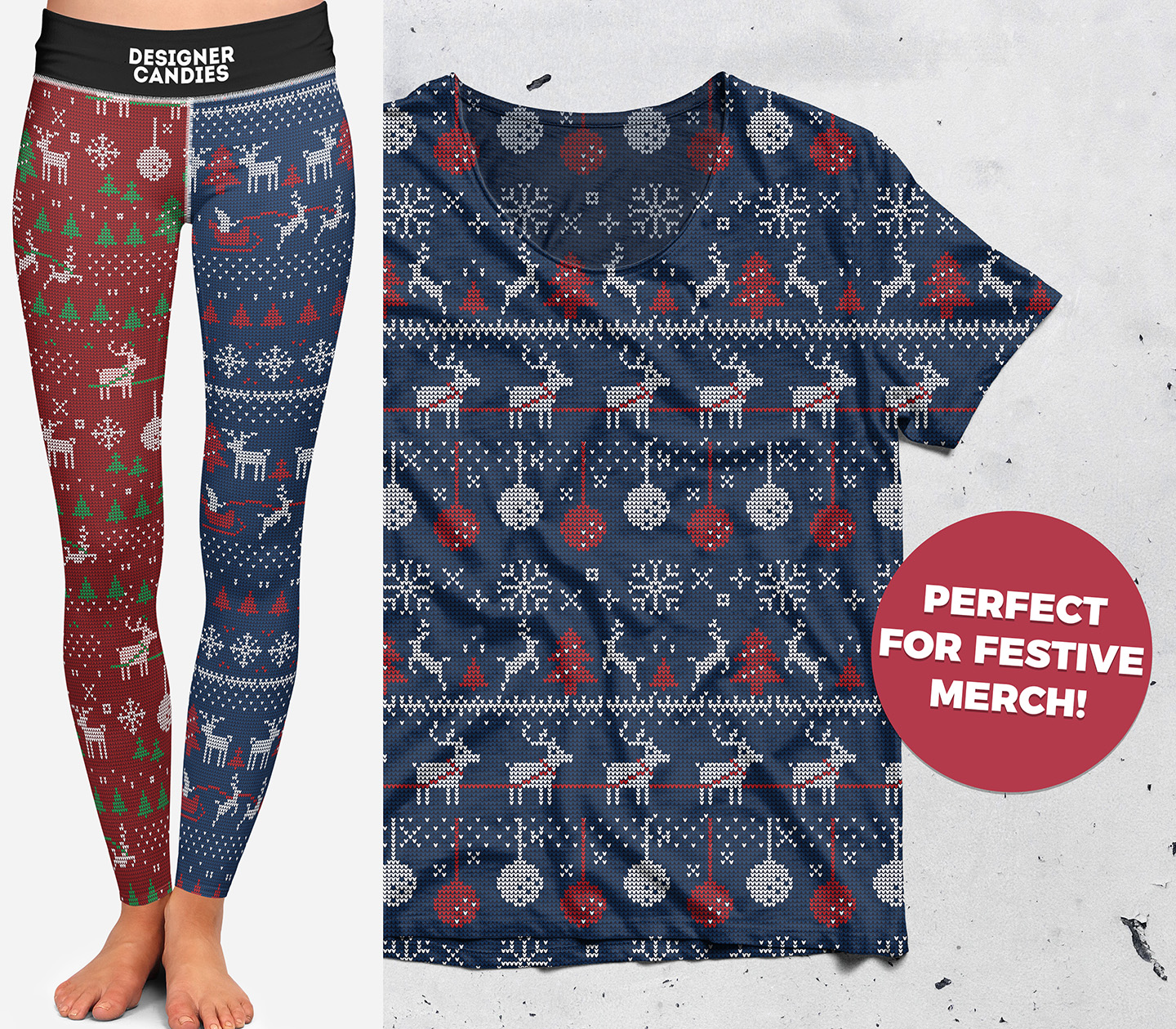Free Christmas Sweater Patterns - Mockup