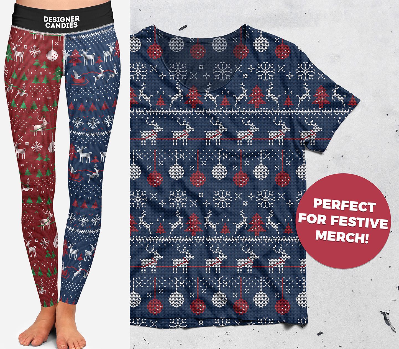 Free Christmas Sweater Patterns - Mockup