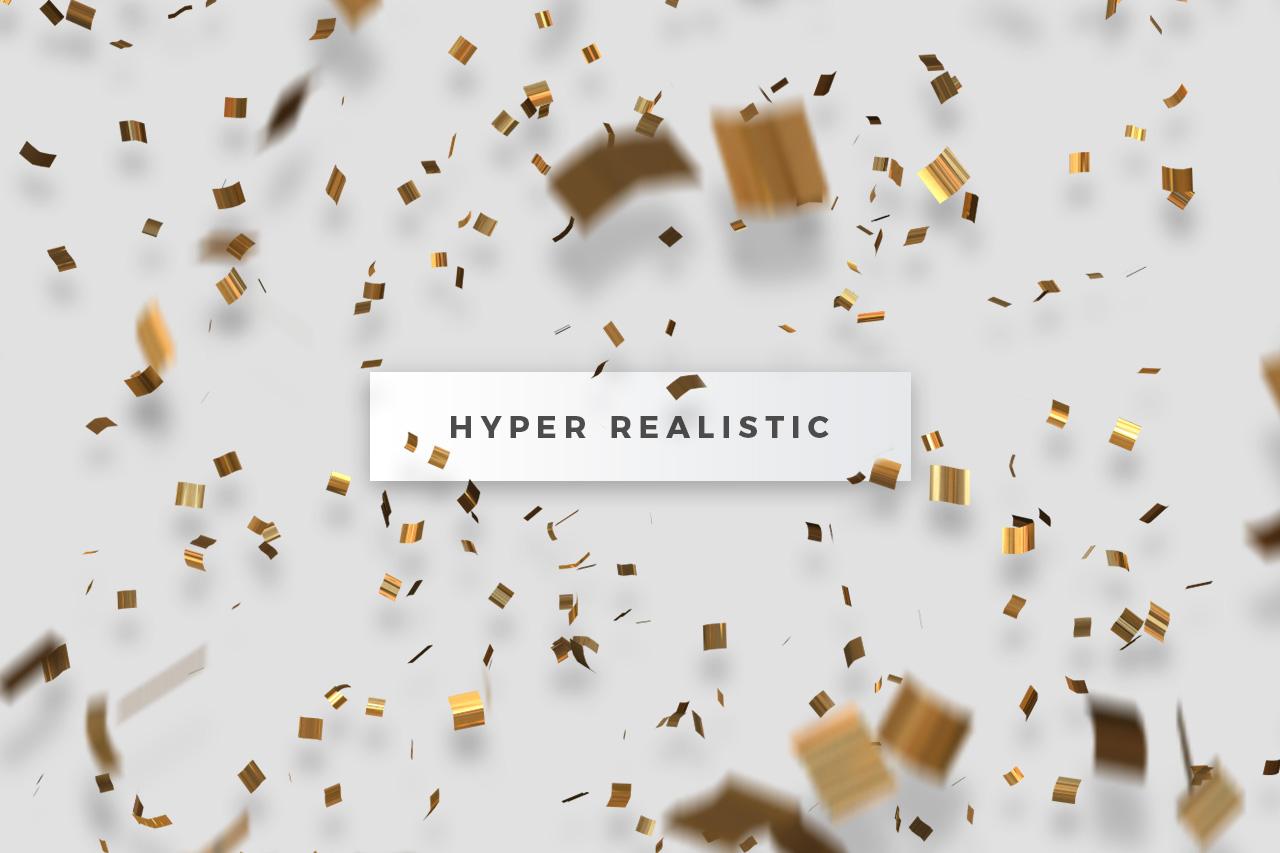 Realistic Confetti Overlays