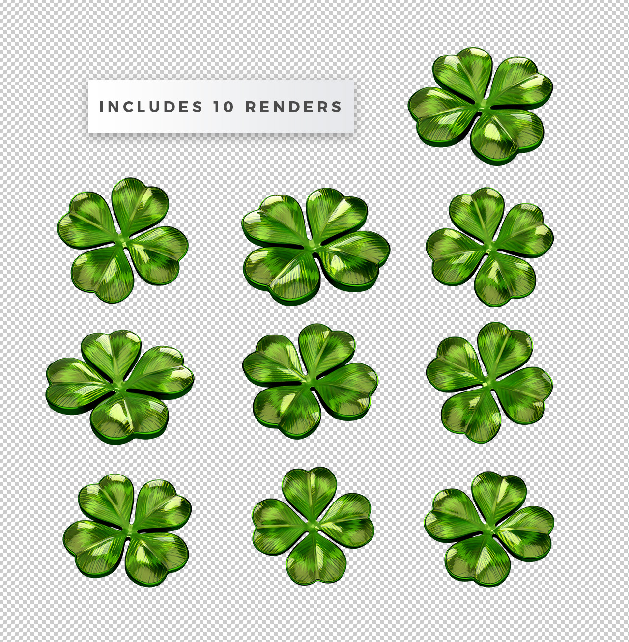 Free 3D Clover PNGs