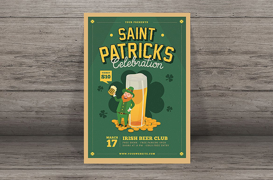 Saint Patrick's Flyer Template