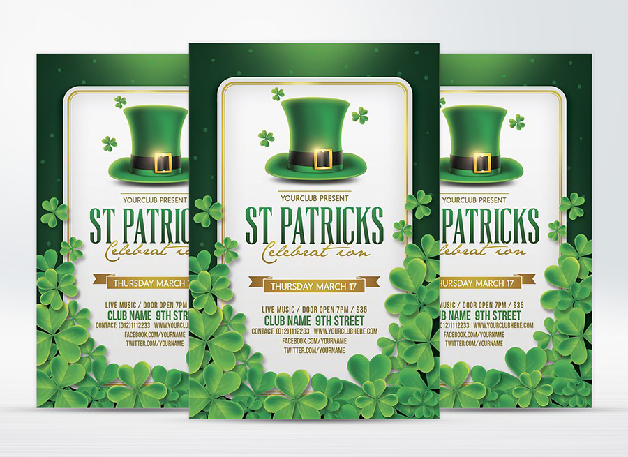 St. Patrick's Day Flyer & Facebook Cover