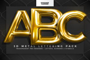 3D Metal Lettering Pack