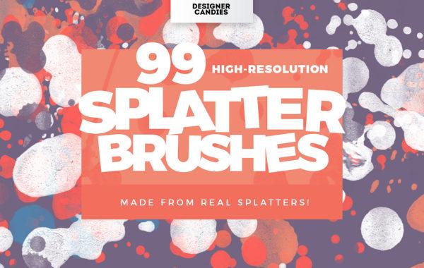 99 Splatter Brushes for Photoshop