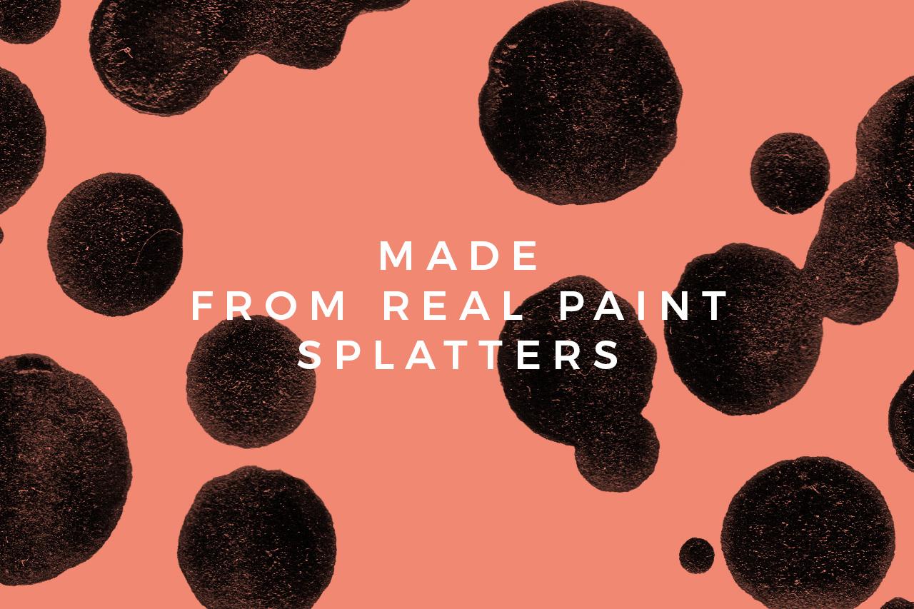 Real Paint Splatters
