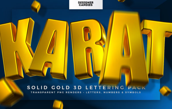 KARAT - Sold Gold 3D Lettering Kit