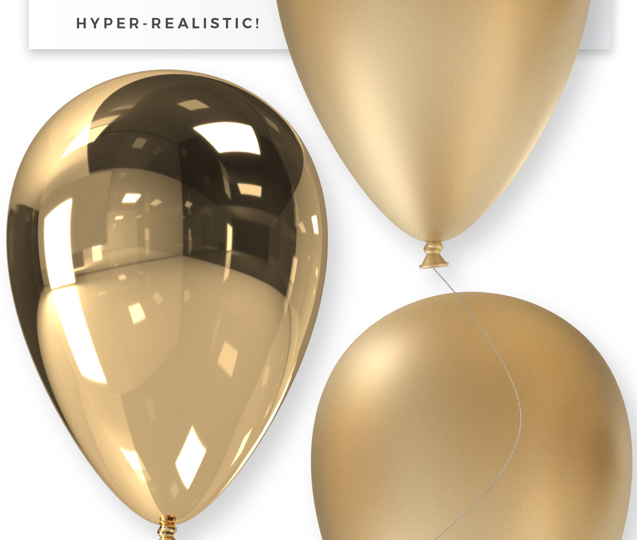 Realistic Balloon Clipart - Transparent PNGs