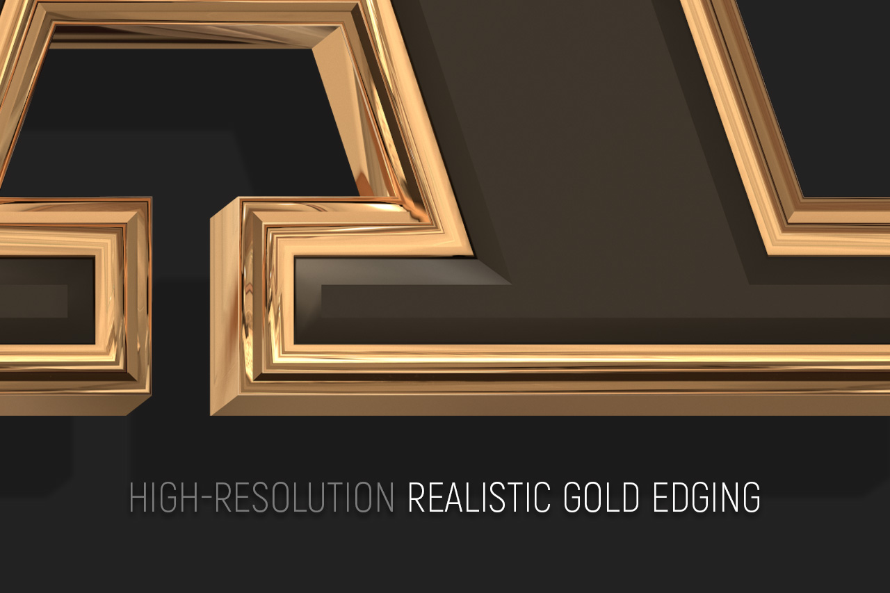 Realistic Gold Edging