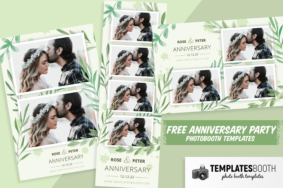 Free Anniversary Photo Booth Templates