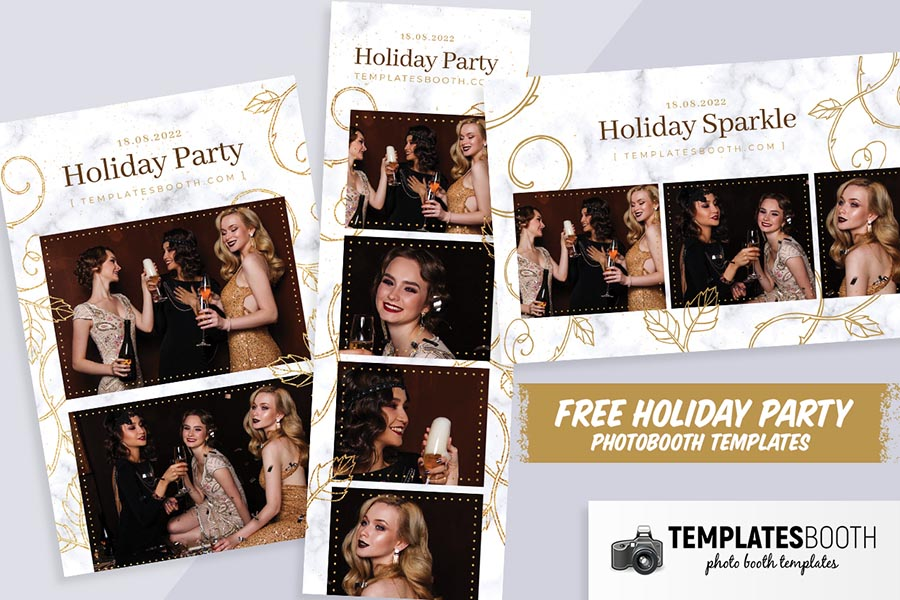 Free Holiday Party Photo Booth Templates