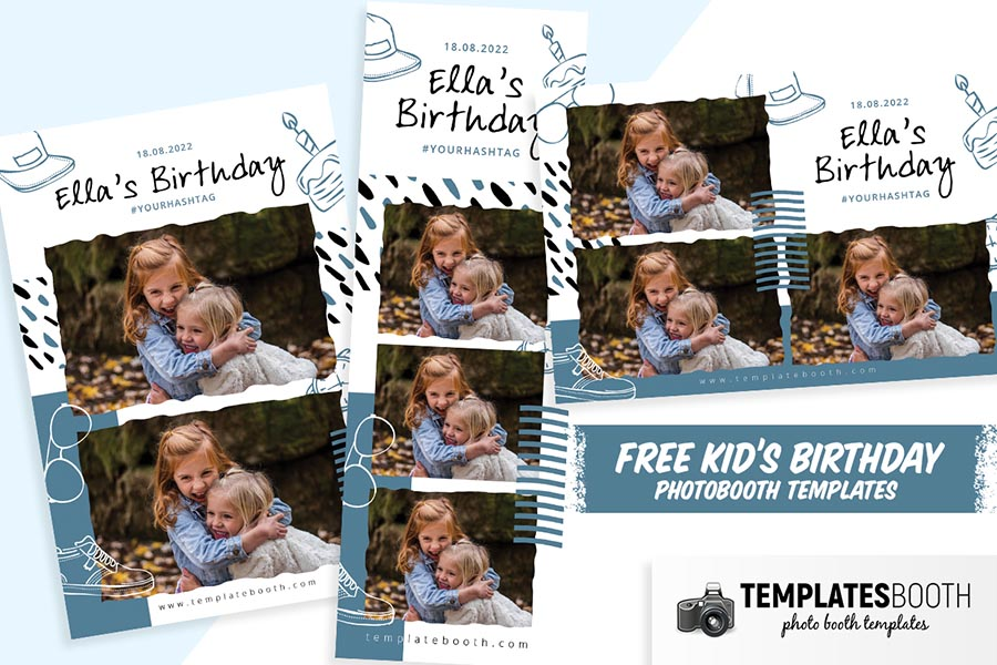 Free Kid's Birthday Party Photo Booth Template