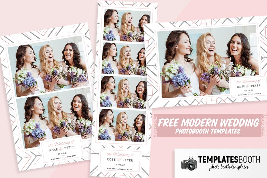 Free Modern Wedding Photo Booth Templates