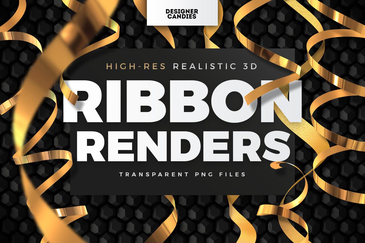 Transparent Ribbon PNG Renders