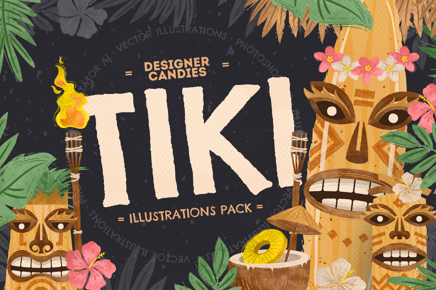 Tiki Vector Illustrations