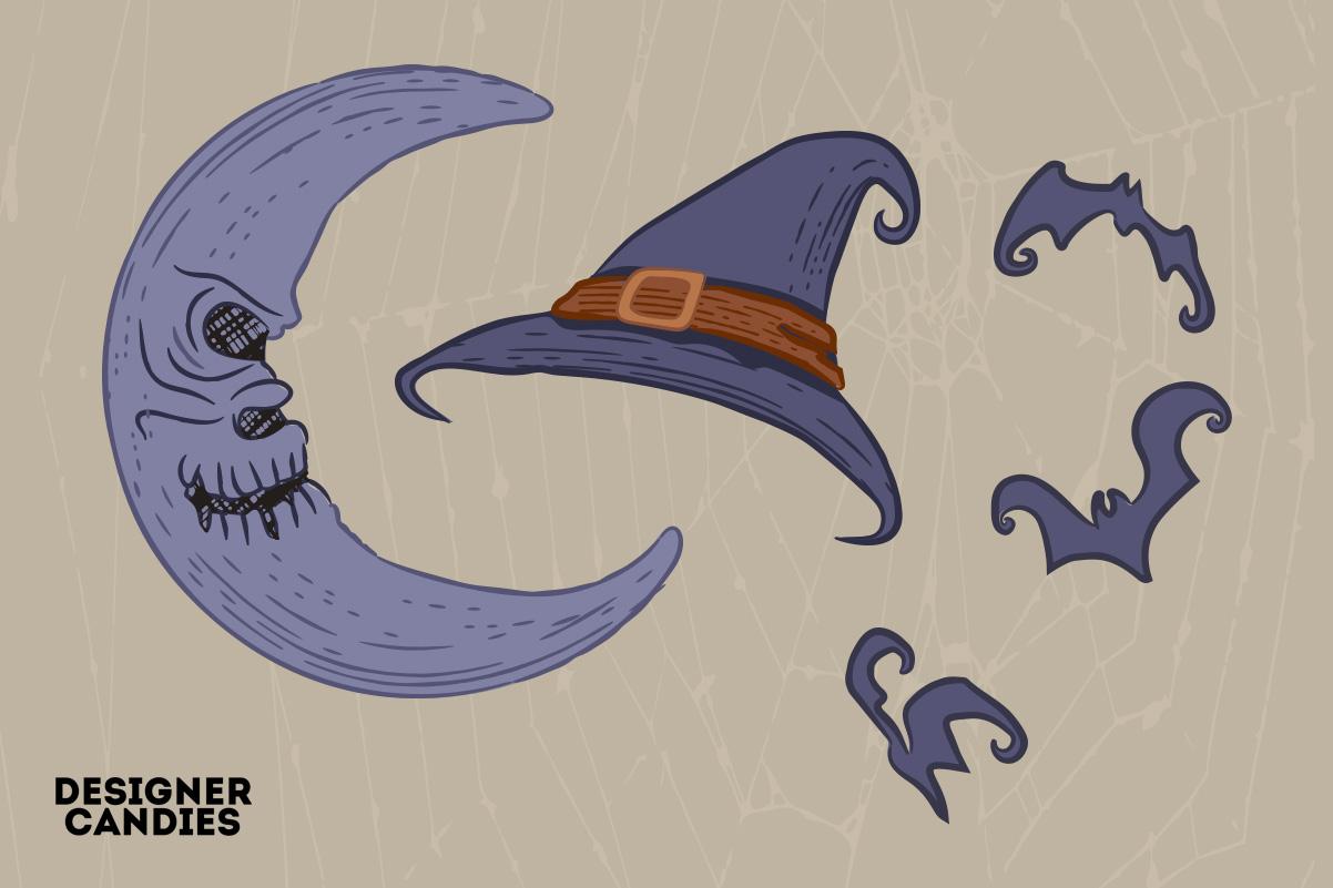 Halloween Elements in PSD & Vector
