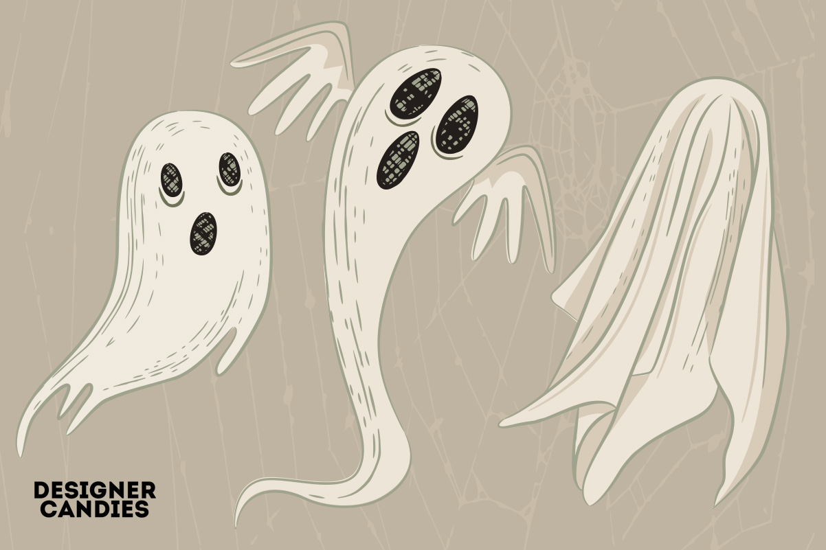 Halloween Ghost Illustrations in PSD & Vector