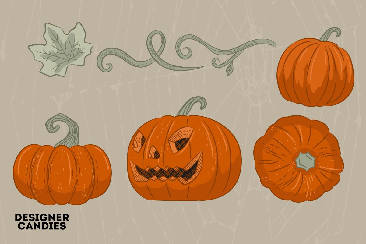 Halloween Pumpkin Illustrations in PSD & Vector
