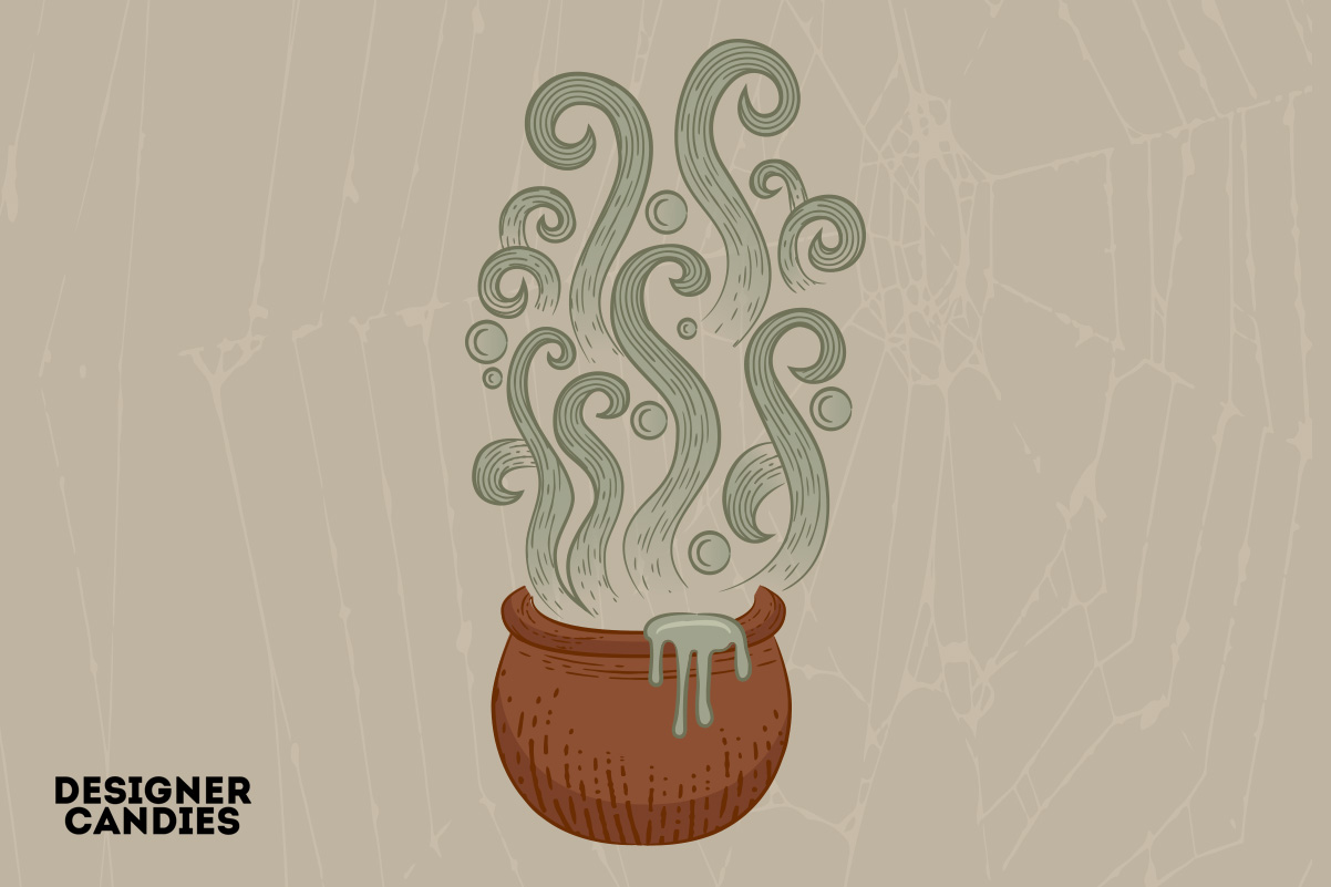Witches Cauldron Vector Illustration