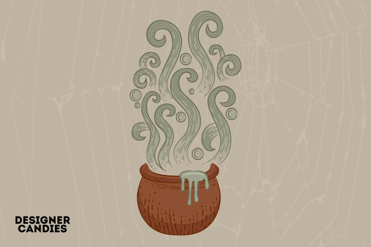 Witches Cauldron Vector Illustration