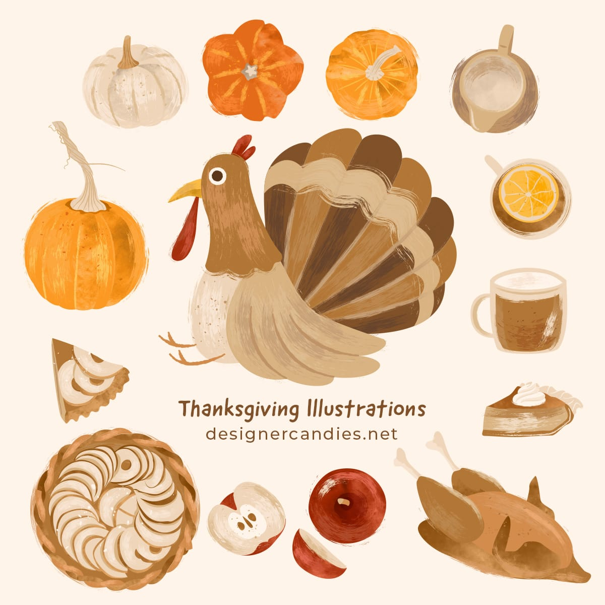 Thanksgiving Vector Illustrations