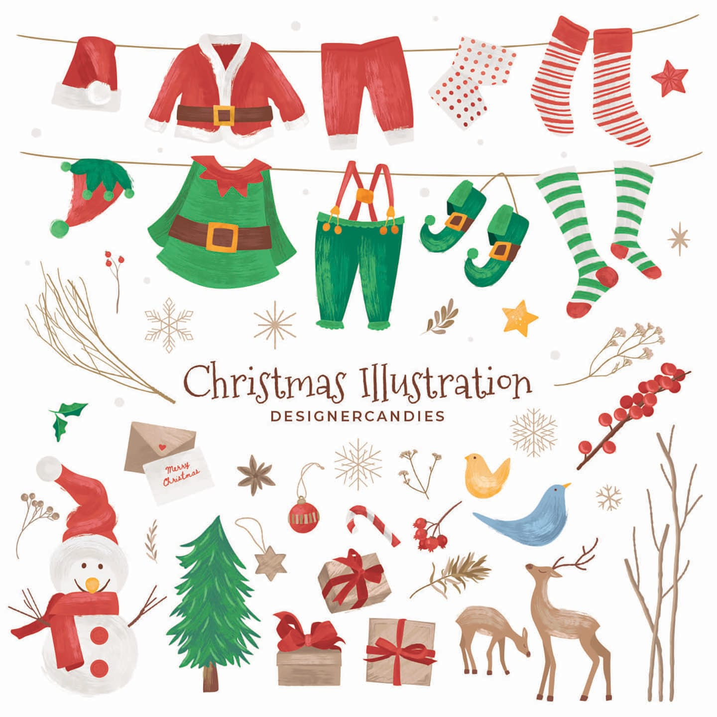 Christmas Vector Illustrations (Full Preview)