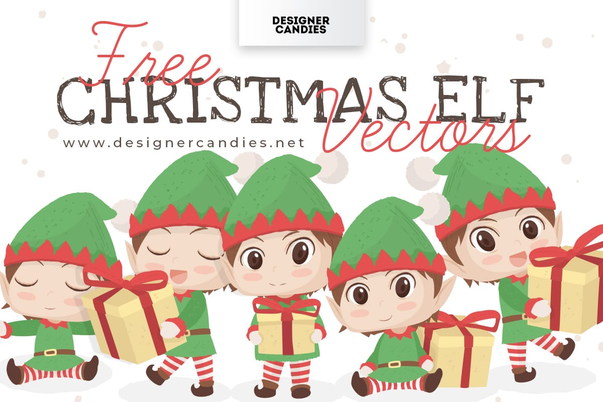Free Christmas Elf Vectors