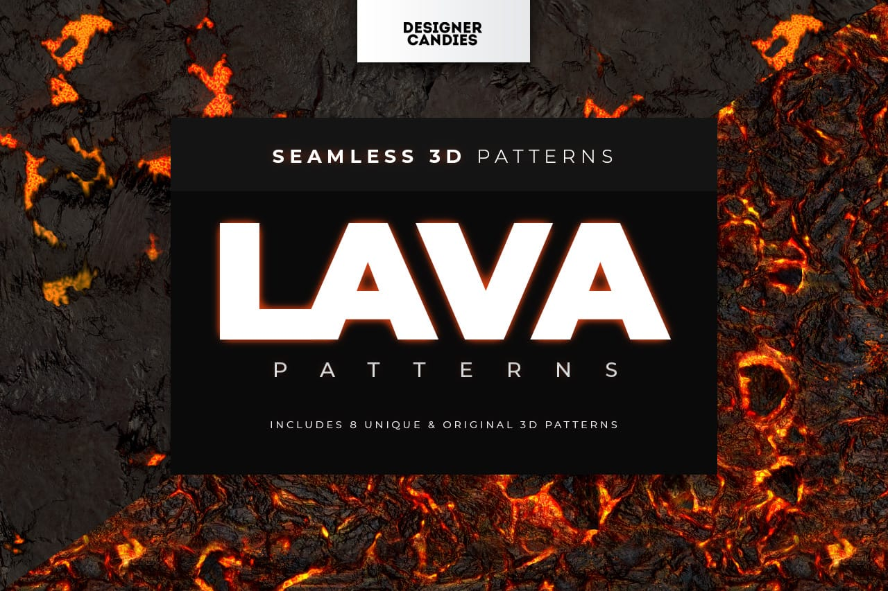 Lava Patterns for Photoshop