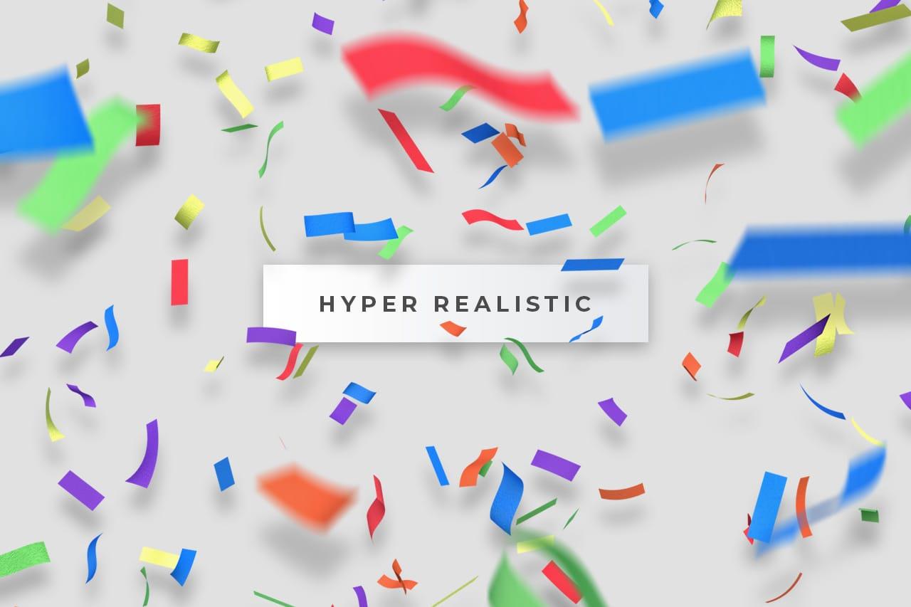 Realistic Paper Confetti Overlay