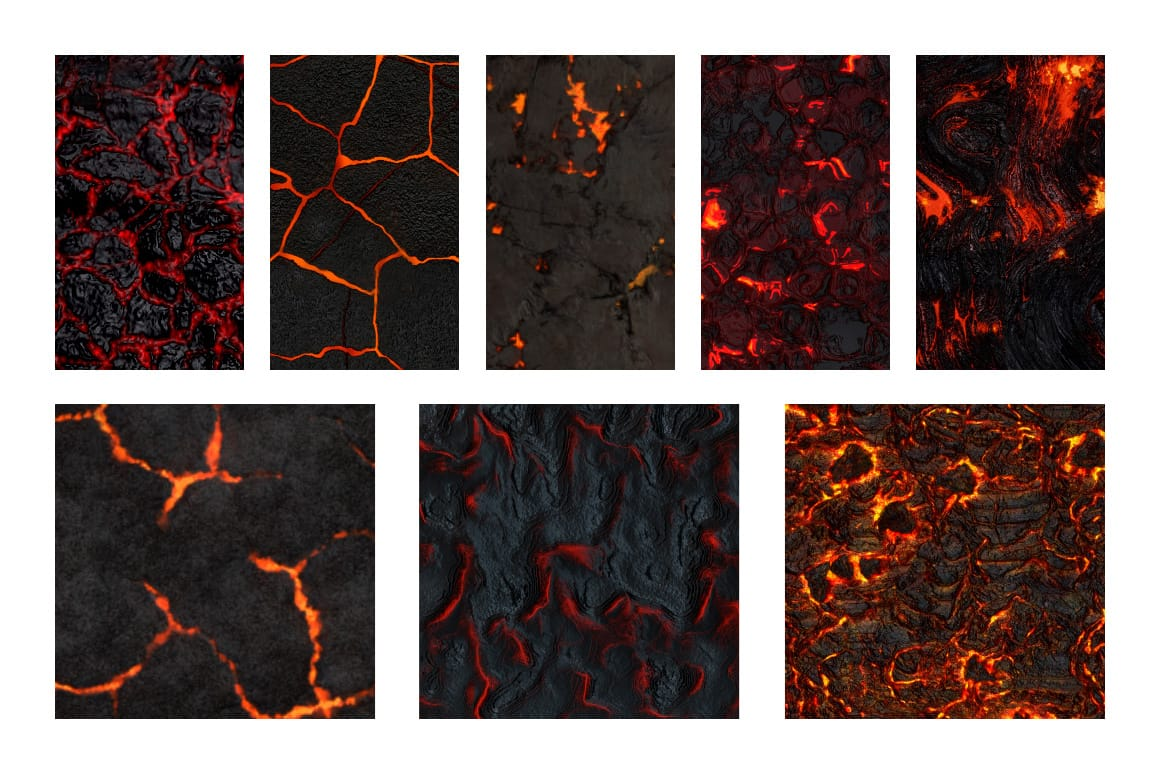 Seamless Molten Lava Patterns
