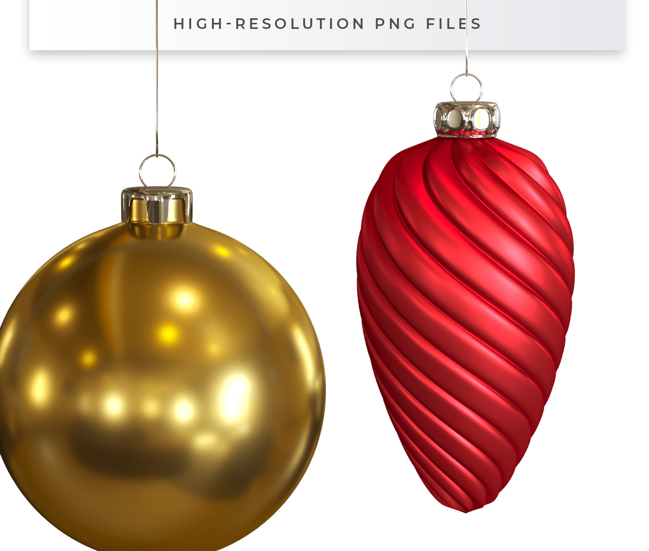 Christmas Baubles Isolated PNGs