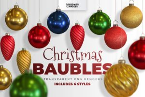 Christmas Baubles PNGs
