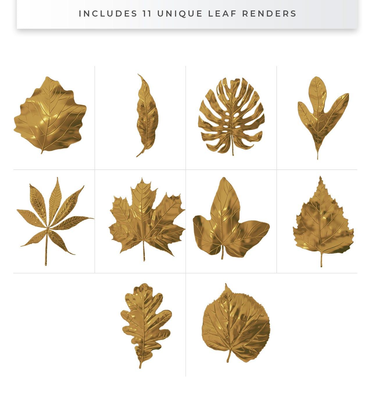 Gold Leaves - Transparent Overlays