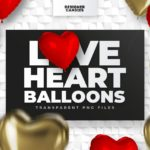Love Heart Balloon PNGs
